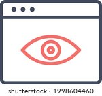 webpage  vision  view icon...   Shutterstock .eps vector #1998604460