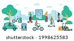 road in the city with people... | Shutterstock .eps vector #1998625583