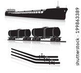 oil transportation  marine... | Shutterstock .eps vector #199863389