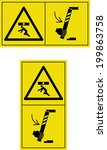 warning crushing | Shutterstock .eps vector #199863758