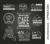 chalk calligraphic drawing.... | Shutterstock .eps vector #199864280