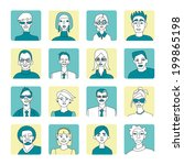 a set of characters. eighteen... | Shutterstock .eps vector #199865198