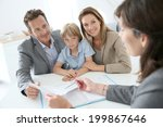 family meeting real estate... | Shutterstock . vector #199867646