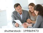 couple meeting financial... | Shutterstock . vector #199869473