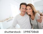 lovely 40 year old couple at... | Shutterstock . vector #199870868