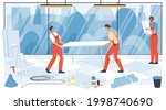 vector cartoon flat industrial... | Shutterstock .eps vector #1998740690