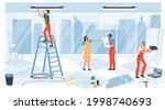 vector cartoon flat industrial... | Shutterstock .eps vector #1998740693
