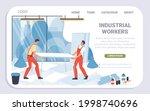 vector cartoon flat industrial... | Shutterstock .eps vector #1998740696