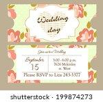 wedding invitation | Shutterstock .eps vector #199874273