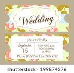 wedding invitation | Shutterstock .eps vector #199874276