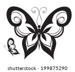 ornamented abstract silhouette... | Shutterstock .eps vector #199875290