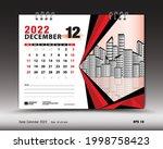december 2022 year  desk...   Shutterstock .eps vector #1998758423
