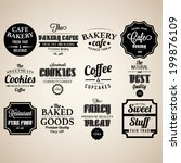 set of retro bakery labels ... | Shutterstock .eps vector #199876109