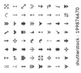 mono arrow icon set   vector... | Shutterstock .eps vector #199876670