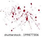 blood or paint splatters.