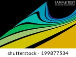 colorful abstract curved vector