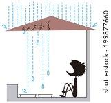 roof leak | Shutterstock .eps vector #199877660
