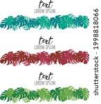 multicolored monstera leaves... | Shutterstock .eps vector #1998818066
