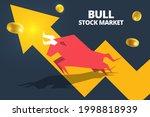 bull or bullish run icon with...   Shutterstock .eps vector #1998818939