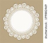 vintage lace frame | Shutterstock .eps vector #199882469