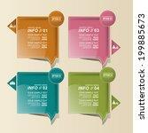 modern design for business... | Shutterstock .eps vector #199885673