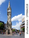 Small photo of LEICESTER,. UK - may 25: Clocktower at main squere in Leicester, 25 May 2014 in Leicester , UK.