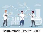 interracial laboratory workers... | Shutterstock .eps vector #1998910880