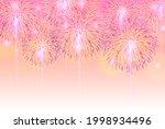 fireworks night sky landscape... | Shutterstock . vector #1998934496
