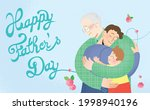 happy father's day celebration... | Shutterstock .eps vector #1998940196