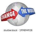 change the world arrows around... | Shutterstock . vector #199894928