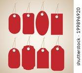 blank red labels set.  | Shutterstock .eps vector #199896920