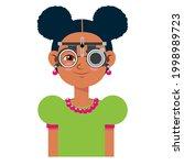 children vision checkup in... | Shutterstock .eps vector #1998989723