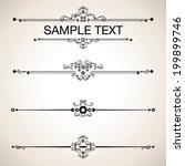 set calligraphic design... | Shutterstock .eps vector #199899746