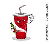 cartoon soft drink cola mascot  ...   Shutterstock .eps vector #1998998306