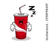 cartoon soft drink cola mascot  ...   Shutterstock .eps vector #1998998309