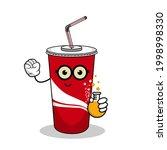 cartoon soft drink cola mascot  ...   Shutterstock .eps vector #1998998330