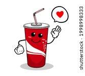 cartoon soft drink cola mascot  ...   Shutterstock .eps vector #1998998333