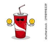cartoon soft drink cola mascot  ...   Shutterstock .eps vector #1998998339