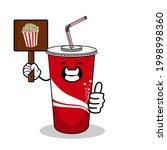 cartoon soft drink cola mascot  ...   Shutterstock .eps vector #1998998360