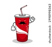 cartoon soft drink cola mascot  ...   Shutterstock .eps vector #1998998363