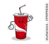 cartoon soft drink cola mascot  ...   Shutterstock .eps vector #1998998366