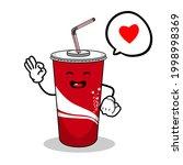 cartoon soft drink cola mascot  ...   Shutterstock .eps vector #1998998369