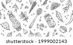 pepper salt pattern. vector... | Shutterstock .eps vector #1999002143