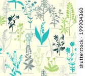 pattern with medicinal plants | Shutterstock .eps vector #199904360