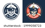 lifebuoy and captain skull   no ...   Shutterstock .eps vector #1999058723