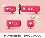 social media like icon concept. ... | Shutterstock .eps vector #1999069709