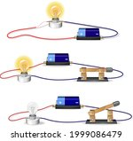 basic electric circuit... | Shutterstock .eps vector #1999086479