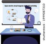 teacher teaching basic electric ... | Shutterstock .eps vector #1999087310