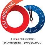 celebrating clock logo 60...   Shutterstock .eps vector #1999102970