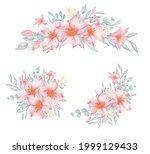 flower arrangement and bouquet...   Shutterstock .eps vector #1999129433